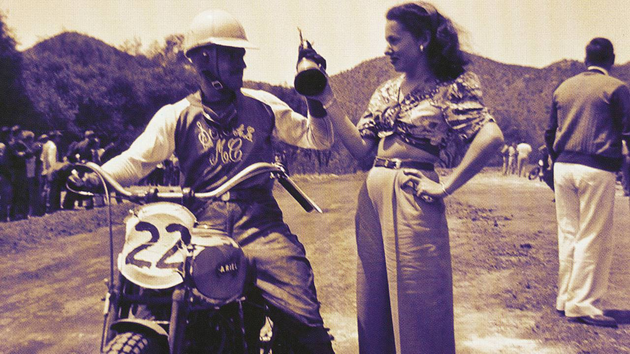 <strong>Handing out the first place trophy at an offroad race in California.</strong>