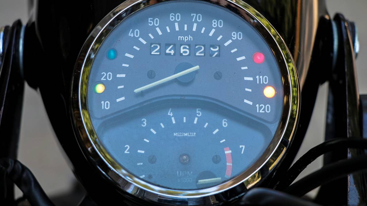 The needle on the tachometer is rated for 25,000 miles or 40 years, whichever comes first.