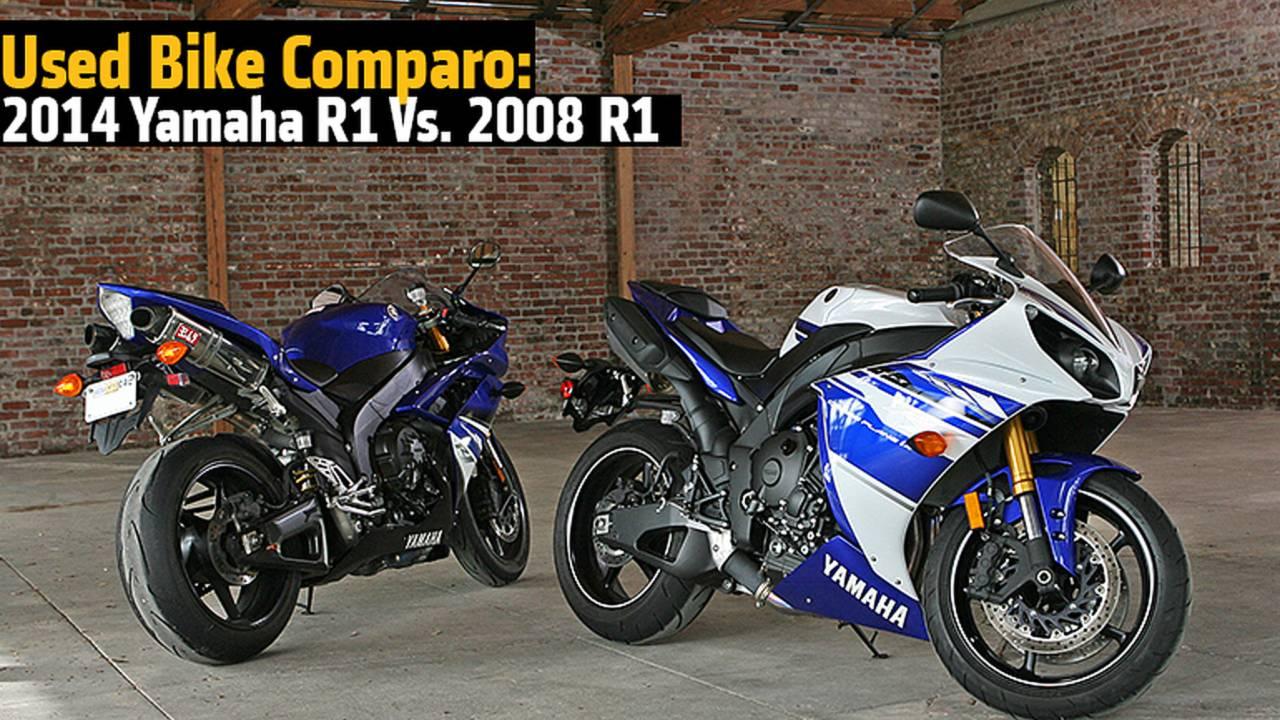 Old Vs. New: Yamaha 2014 YZF-R1 Vs. 2008 YZF-R1