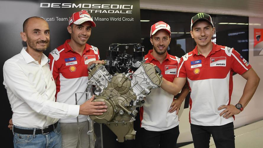 Ducati presenta en Misano el motor Desmosedici Stradale V4, derivado de MotoGP