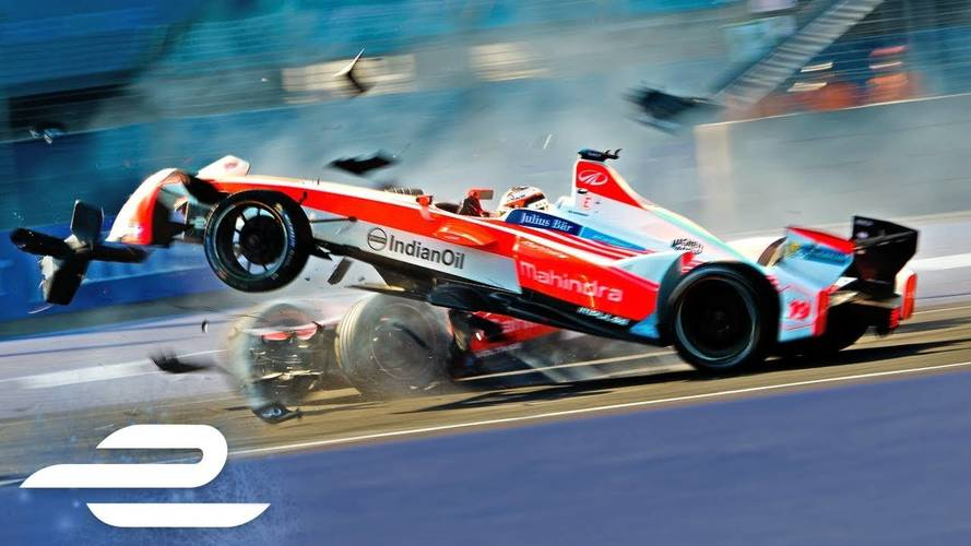 Watch More Than 5 Minutes Worth Of Formula E Season 3 Crashes