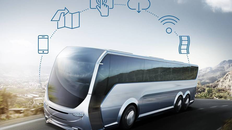 Bosch coach entertainment system previews joy of driverless cars