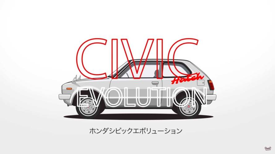 See 44 years of Honda Civic Evolution In This Nifty 1-Minute Video