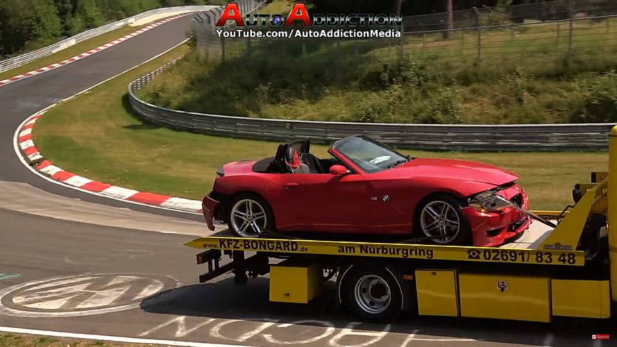 BMW Z4 M Roadster Crashes While Carving Corners At The 'Ring
