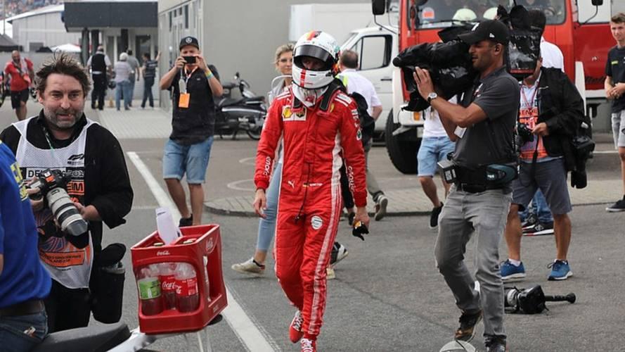 El accidente de Sebastian Vettel en el GP de Alemania