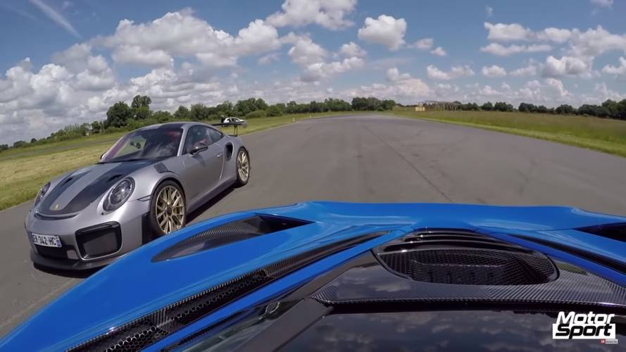 McLaren 720S shows Porsche 911 GT2 RS its taillights in drag race