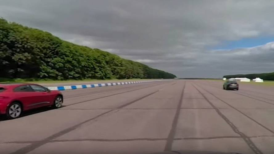 Watch Tesla Model X 100D & P100D Race Jaguar I-Pace In 360°
