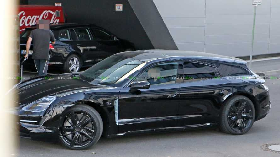 Porsche Taycan Sport Turismo estate spied for first time