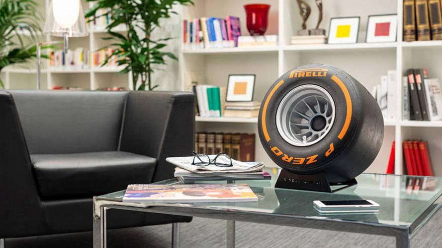 Pirelli, F1 lastiği gibi görünen Bluetooth hoparlör üretti