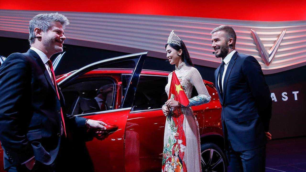 David Beckham joins Vinfast Paris Motor show 2018 debut