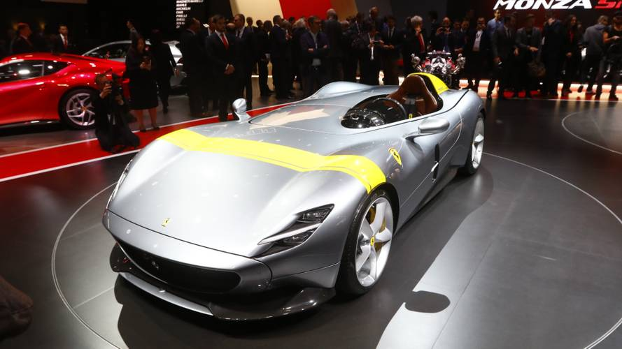 Ferrari Monza SP1, SP2 Speedsters Arrive In Style For Paris Debut