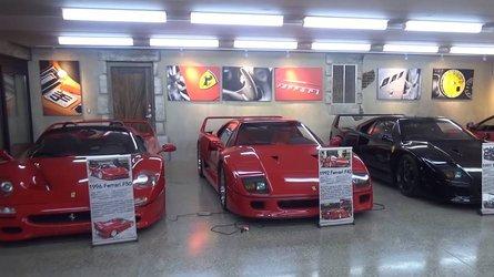 Underground Garage Combines Ferrari Theme With American Muscle