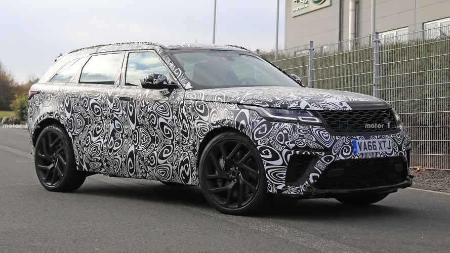 Range Rover Velar SVR kamuflajı azaltmış