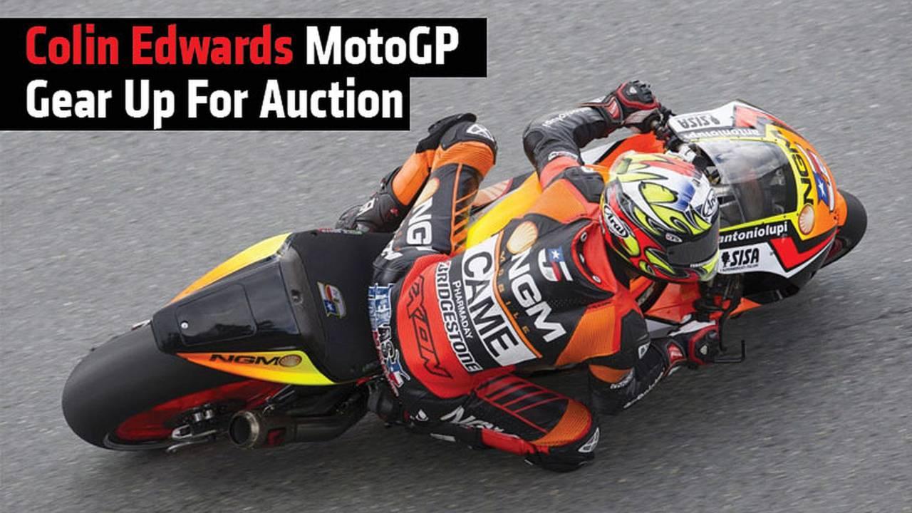 Colin Edwards MotoGP Gear Up For Auction