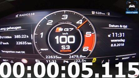 Audi SQ7'nin adeta bir spor otomobil gibi hızlanmasını izleyin