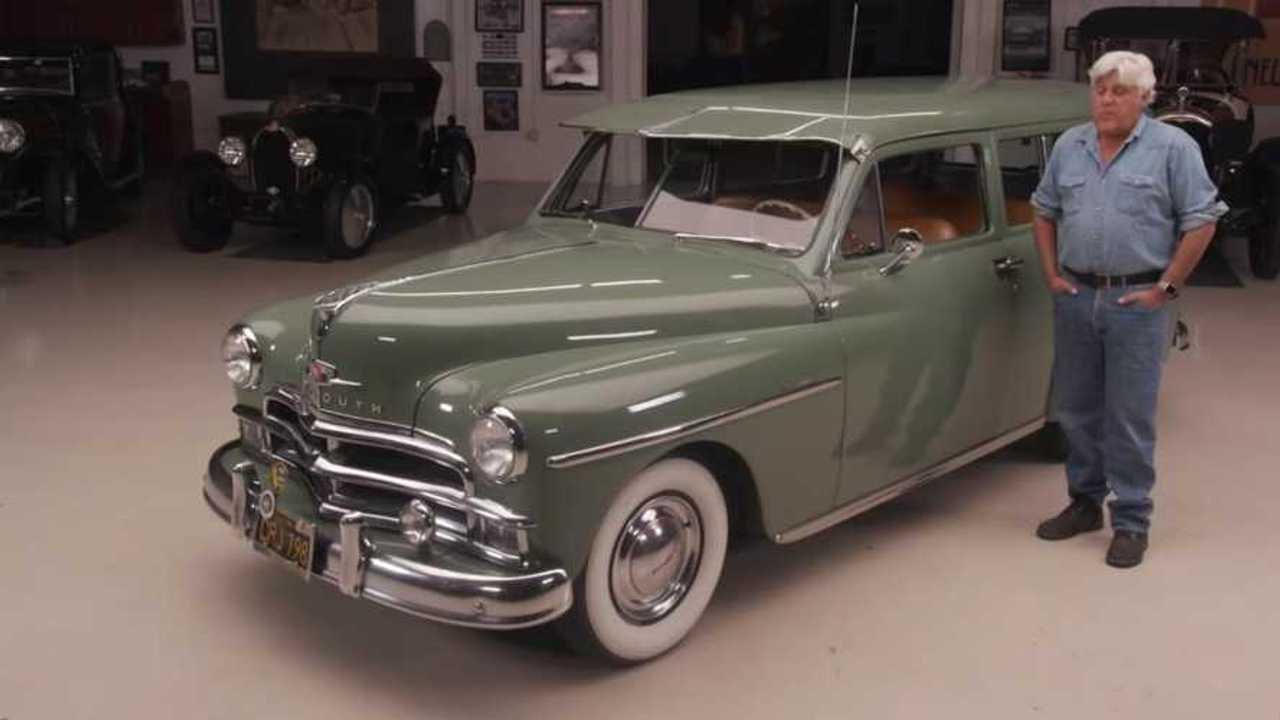 The war veteran's 1950 Plymouth Suburban gifted to Jay Leno