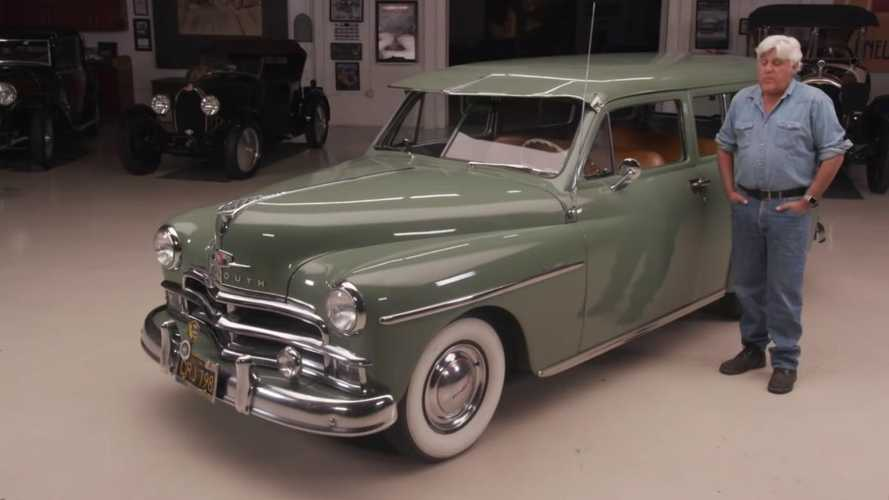 The war veteran's 1950 Plymouth Suburban gifted to Jay Leno