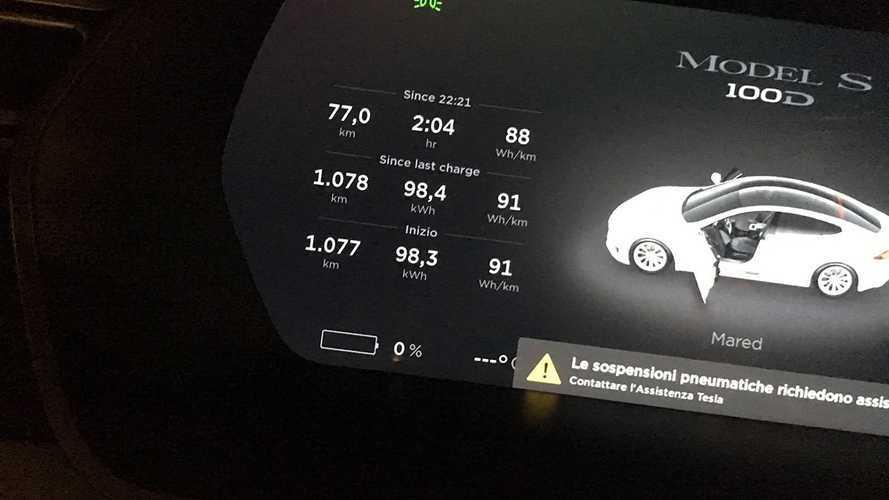 Tesla Model S проехала более 1000 км на одном заряде