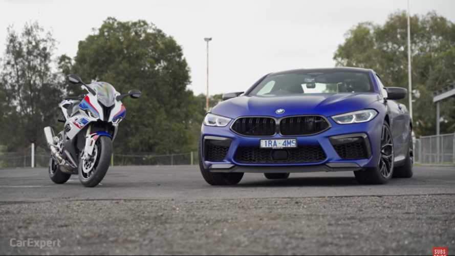 BMW M8 Competition faces S1000RR superbike in surprising drag race