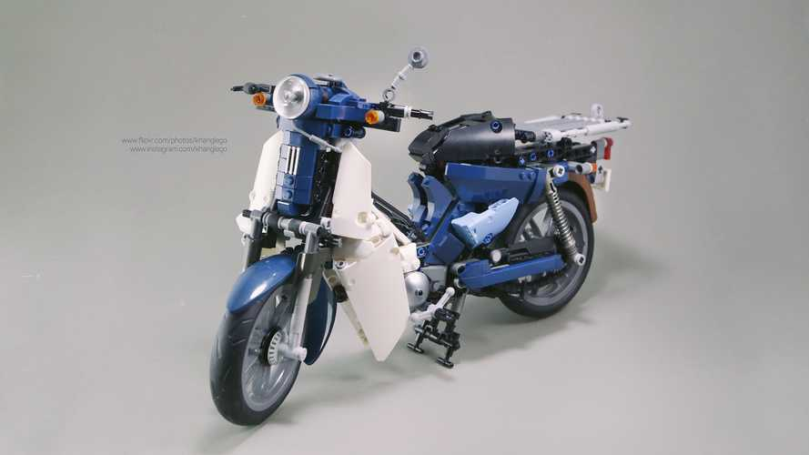 This Is The Cutest, Most Awesome Honda Cub LEGO Sculpture Ever
