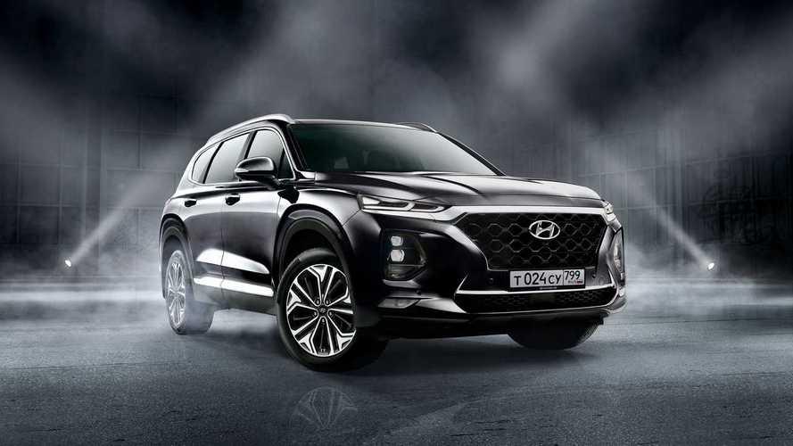 Hyundai Santa Fe вновь подался в «черно-коричневые»