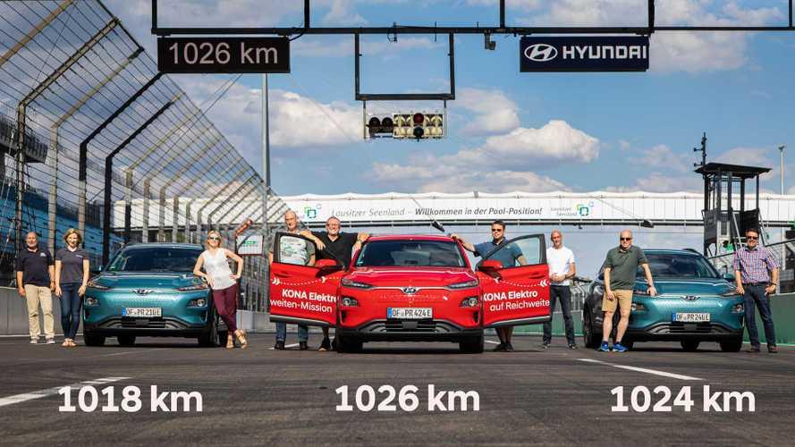 Hyundai Kona roda 1.026 km com uma carga em em maratona de autonomia