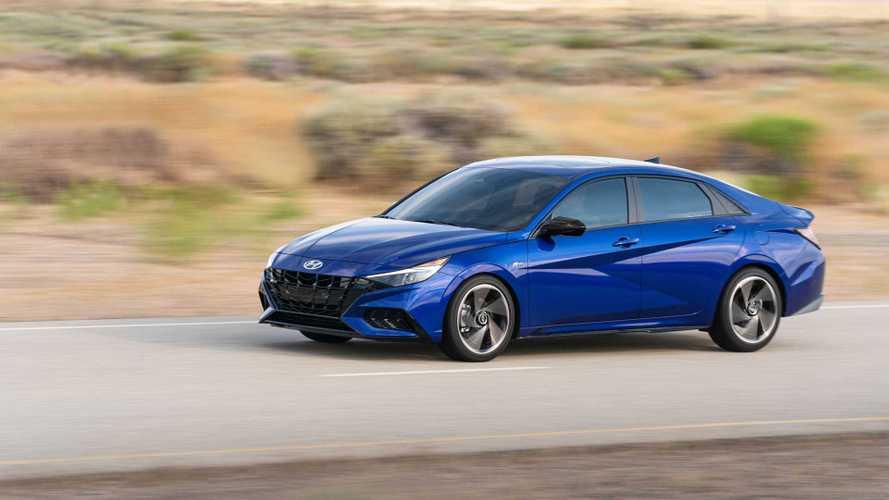 2021 Hyundai Elantra N Line Sedan Blue Exterior - 5128342