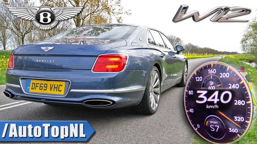 Így sprintel az új Bentley Flying Spur 0-ról 340 km/órára