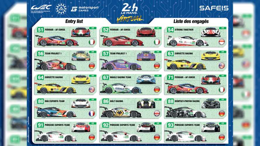 24 Hours of Le Mans Virtual: Here's every custom livery for the race