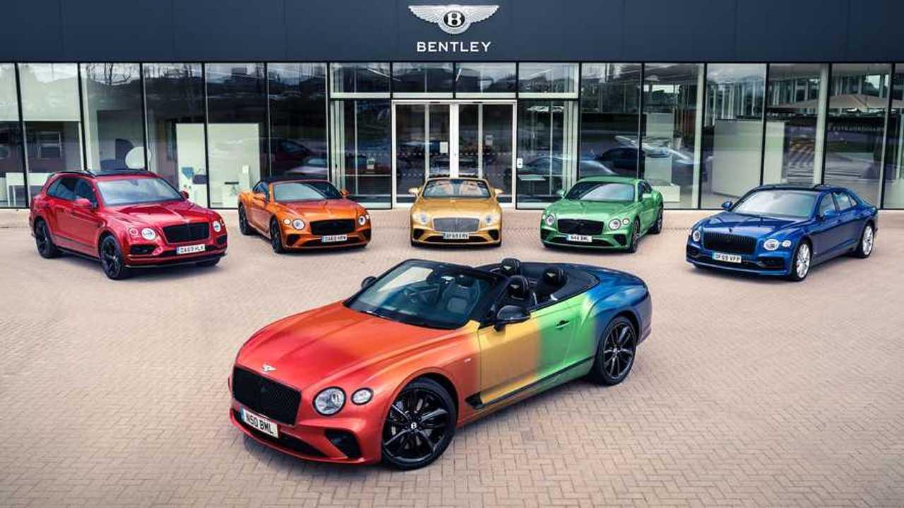 Rainbow Bentley Continental GT V8 Cabrio
