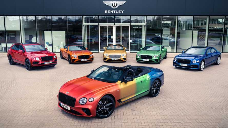 Rainbow Bentley Continental GT V8 Convertible