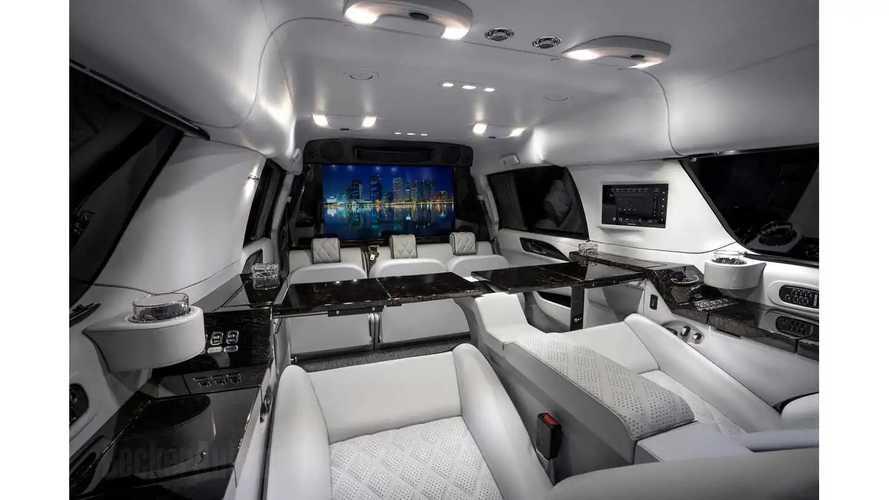 Sylvester Stallone's stretched Cadillac Escalade ESV