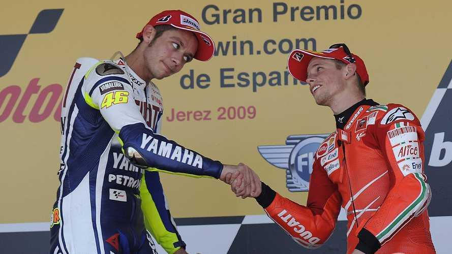 """Stoner: """"Es decepcionante ver denigrado a Rossi a un equipo satélite"""""""