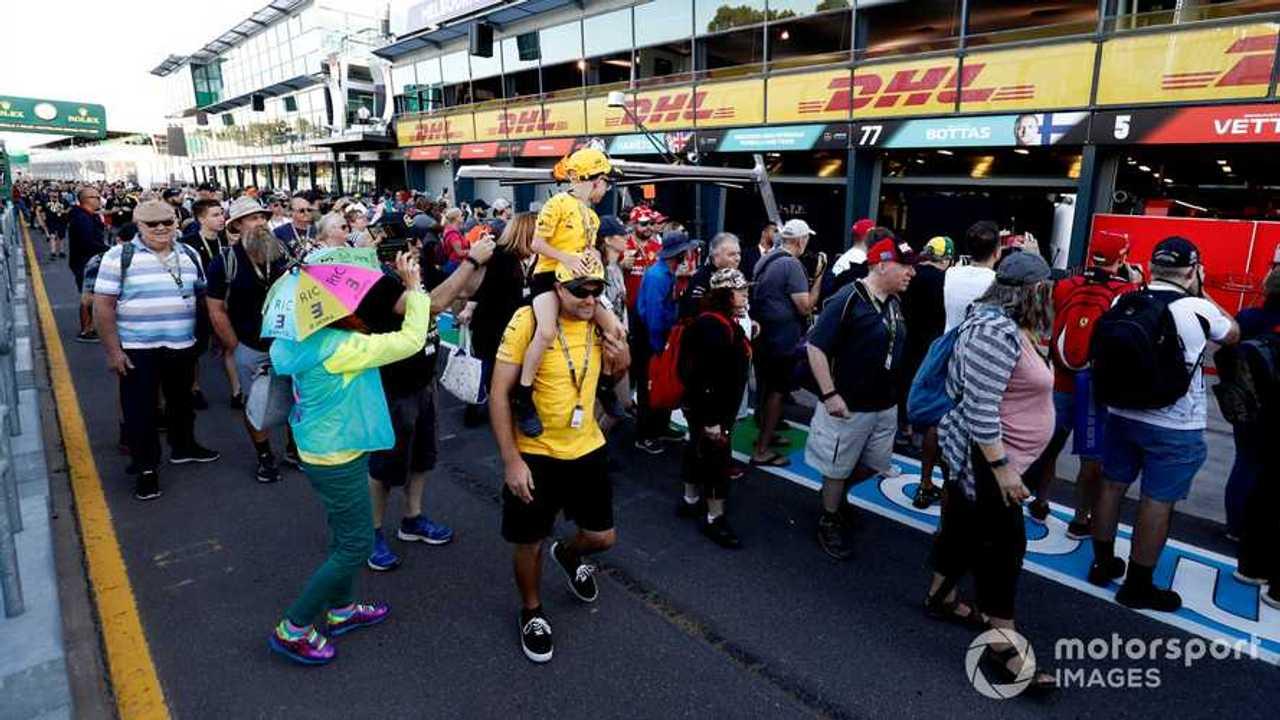 F1 fans pit lane walk at Australina GP 2020