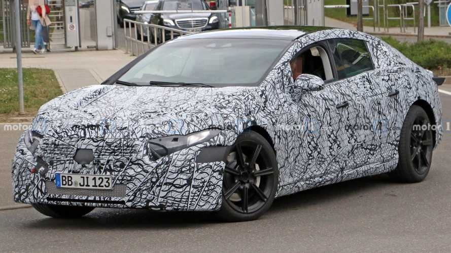 Mercedes EQS Spied Putting Its Four-Wheel Steering To Work