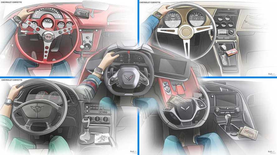 Посмотрите, как изменился интерьер Chevrolet Corvette за 67 лет