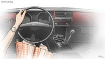 Toyota Corolla Interior Evolution Slideshow