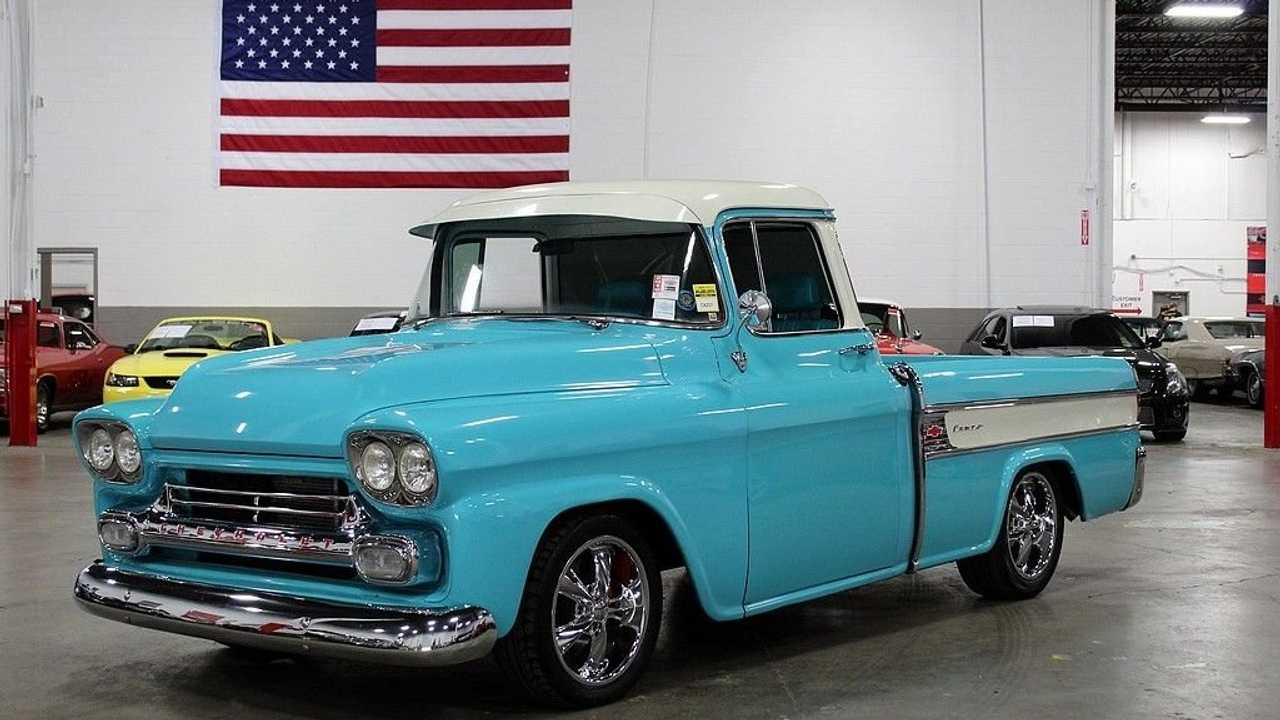 Drive Off In A Beautiful Turquoise 1958 Chevrolet Cameo Pick-Up