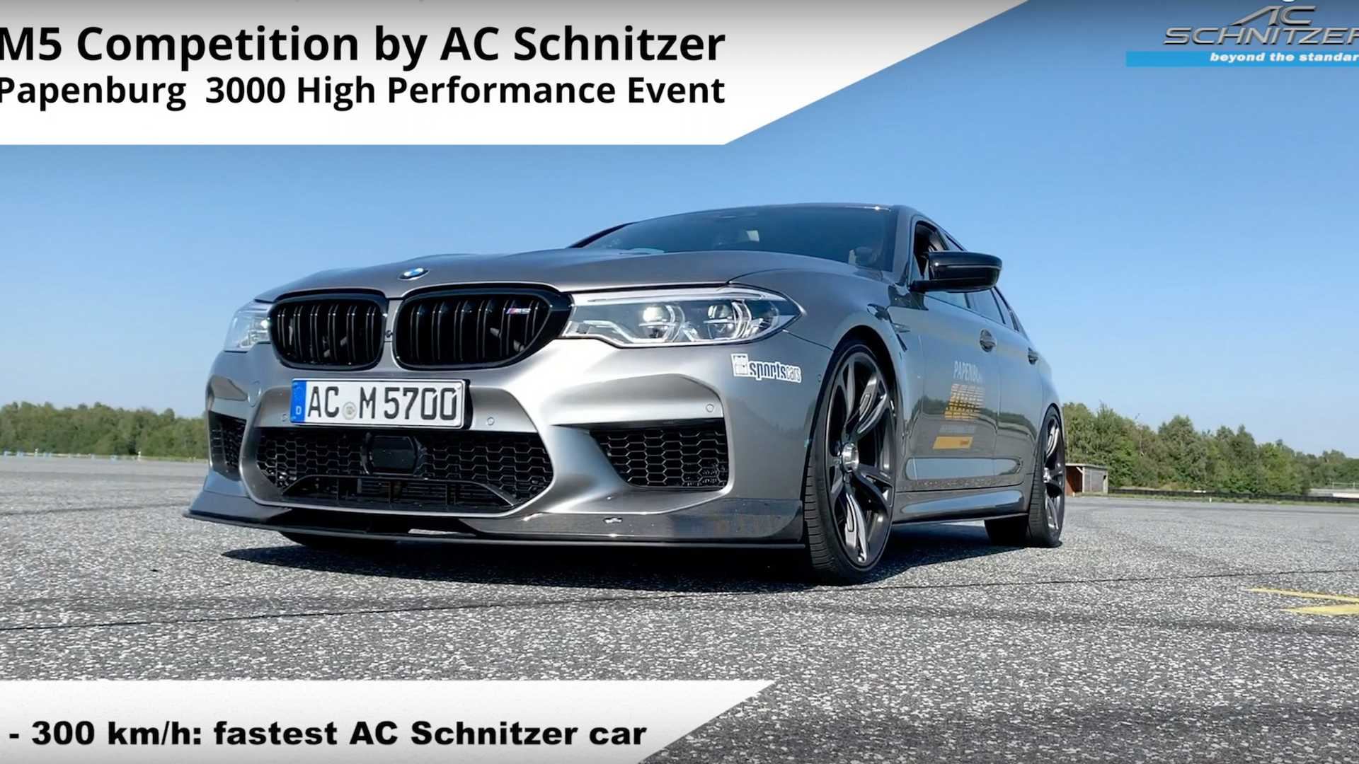 See BMW M5 Competition by AC Schnitzer rocket to 186 mph