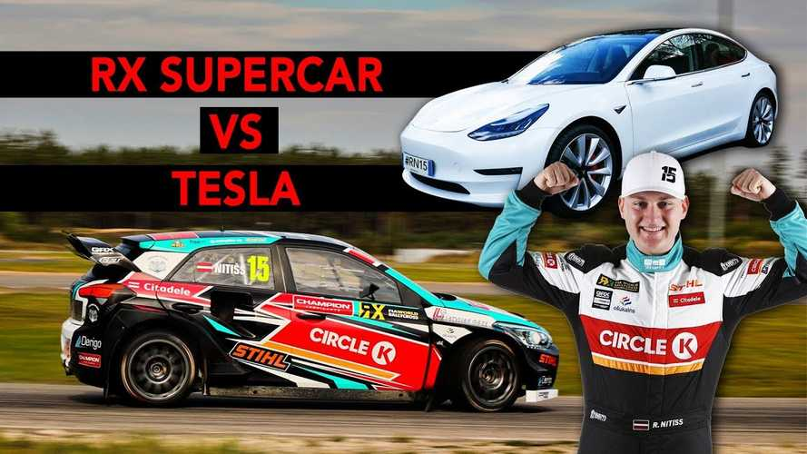 Watch Tesla Model 3 Performance Face Off Against RX Supercar