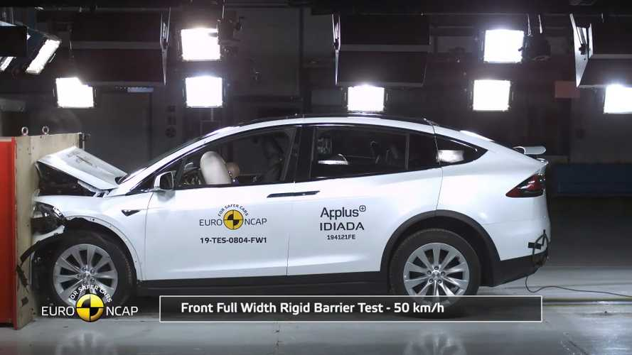 Updated Tesla Model X scores high in Euro NCAP crash tests