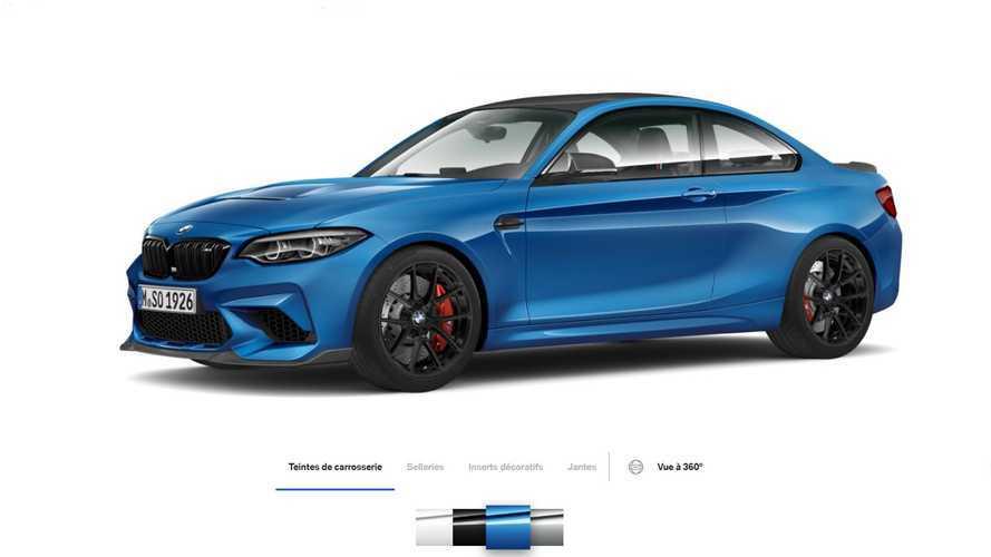 Le configurateur de la BMW M2 CS est en ligne !