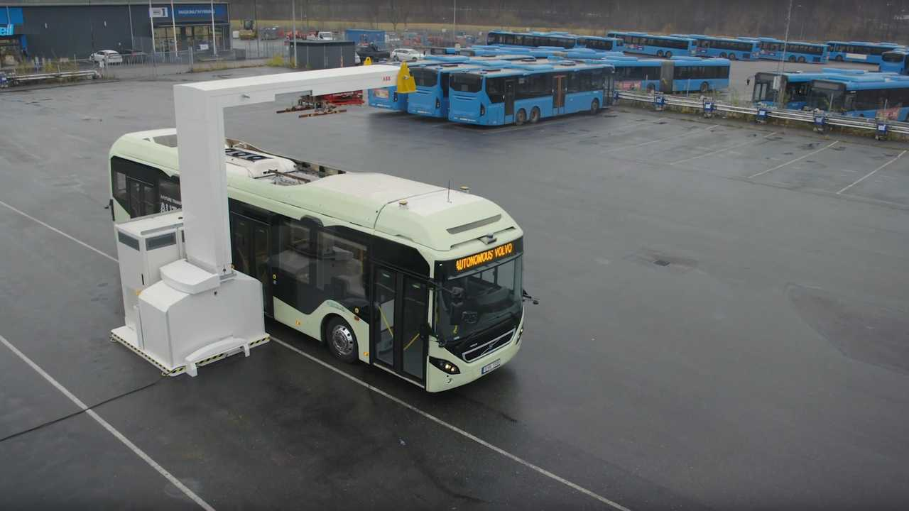 Volvo Buses Demonstrates Autonomous Driving For Bus Depot