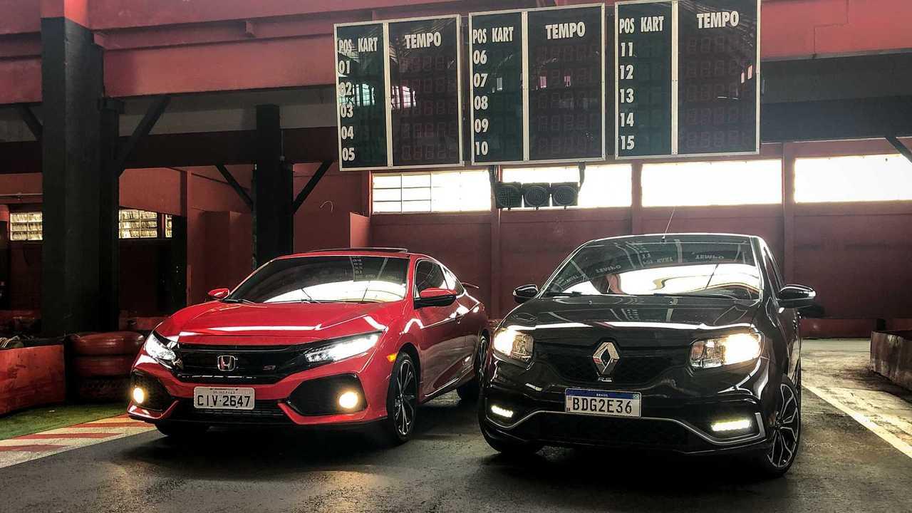 Sandero RS e Civic Si