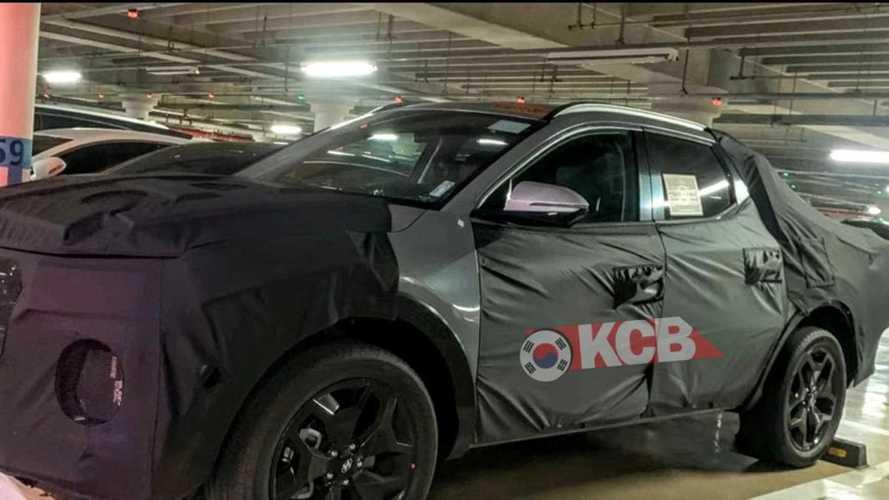 Hyundai Santa Cruz espiada casi lista para ser producida