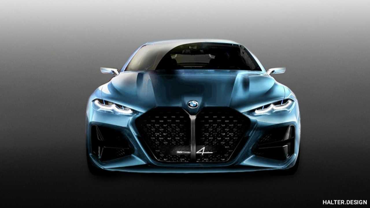 BMW Concept 4 rendering by Motor1.com reader