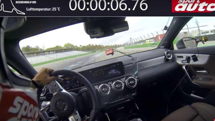Mercedes-AMG A45 S'in çılgın Hockenheim turunu izleyin