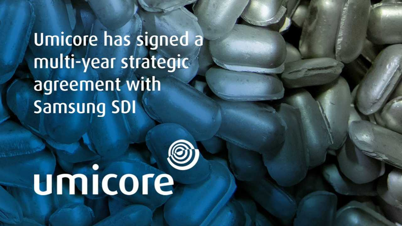 Umicore announces strategic supply agreement with Samsung SDI for NMC cathode materials