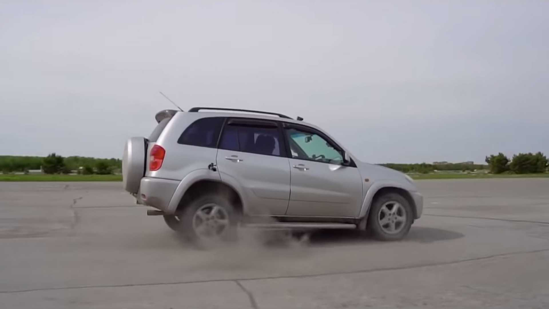 See Toyota RAV4 With Auto Gearbox Switch To Reverse At 62 MPH