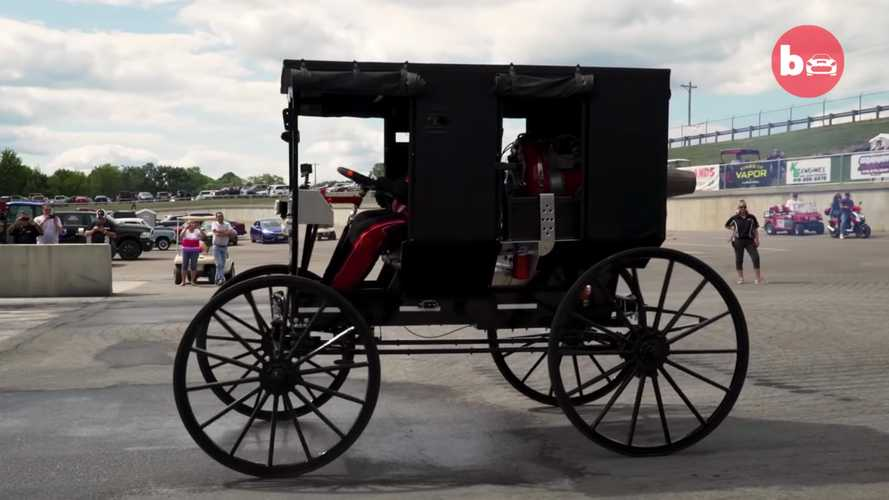 Carroza Amish propulsada por turbina